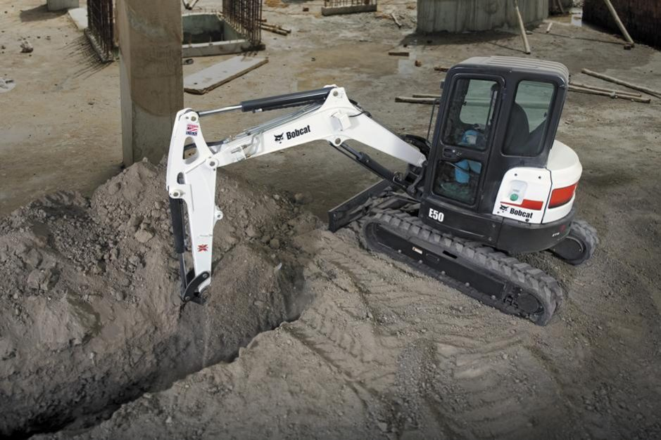Bobcat E50 Compact Excavator (Long Arm)