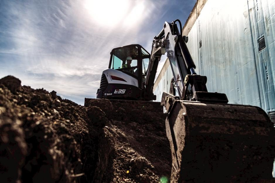 Bobcat E35 Compact Excavator - For Sale in KS and OK - White